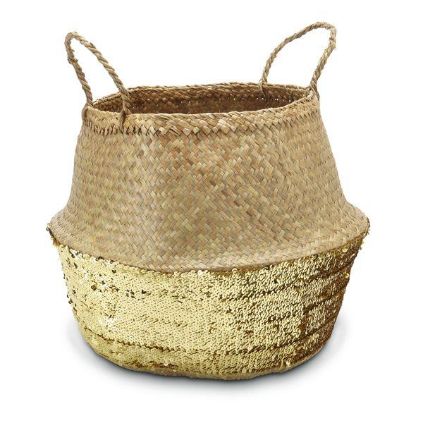 Sequin Belly Basket