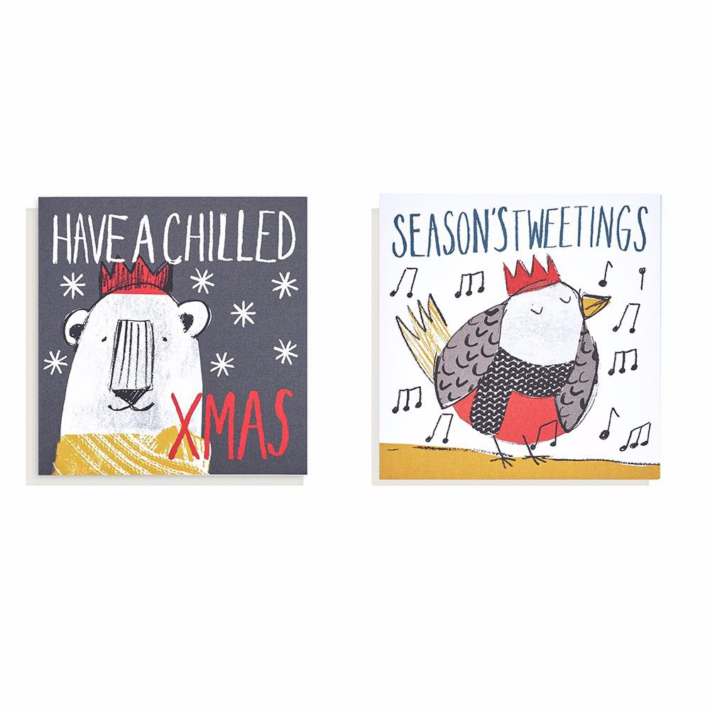 Mini Animals Christmas Cards 16 Pack Oxfam GB Oxfam