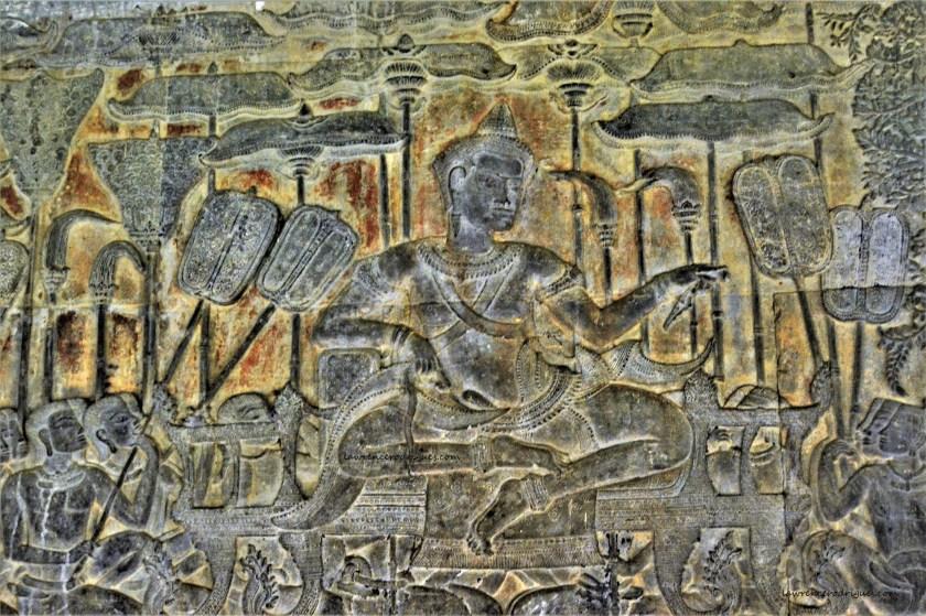 Khmer King Suryavarman II, the builder of Angkor Wat, in Siem Reap, Cambodia