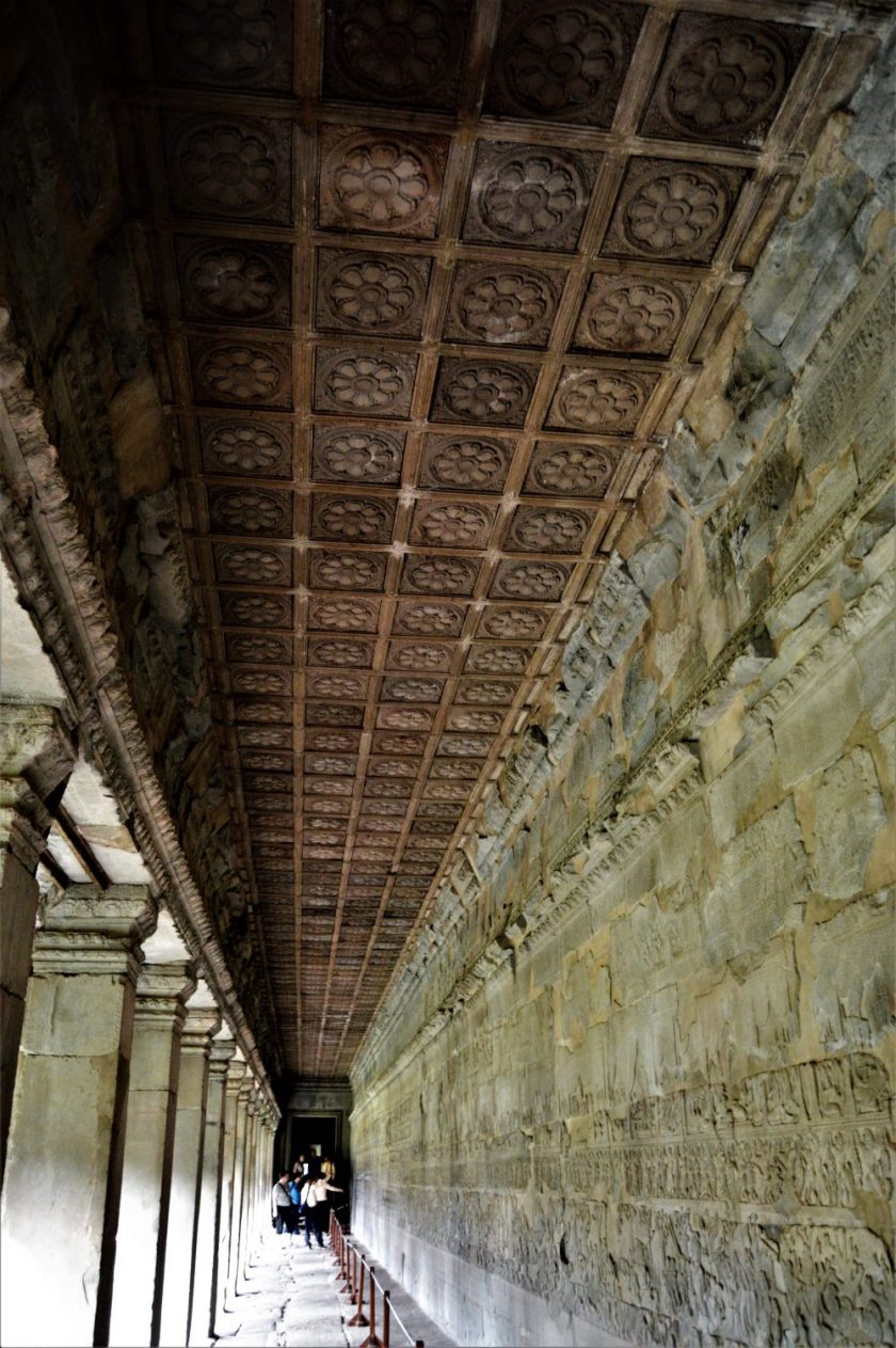 East gallery corridor on the lower level of Angkor Wat, Siem Reap, Cambodia