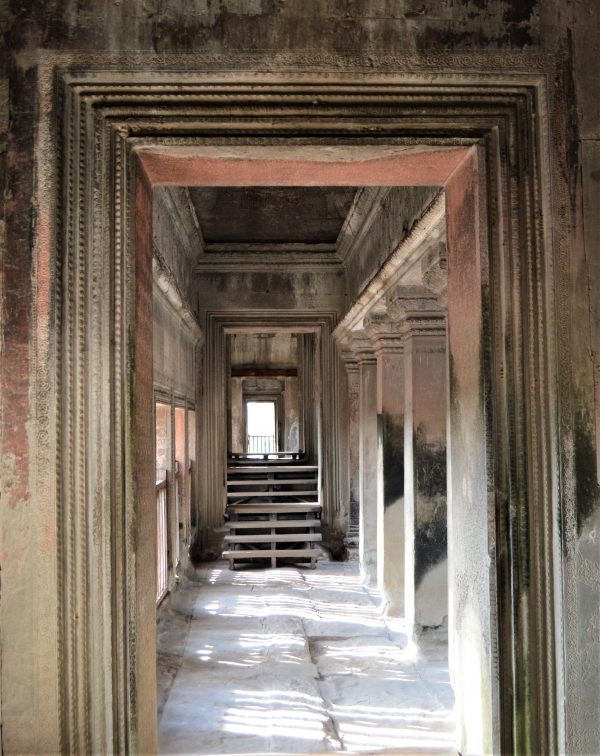 Gallery on the uppermost terrace of the Angkor Wat Temple in Siem Reap, Cambodia