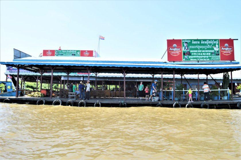 Floating Pontoon on Tonlé Sap, Cambodia