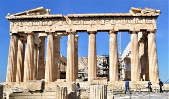 Ruins of Parthenon in Athens, Greece