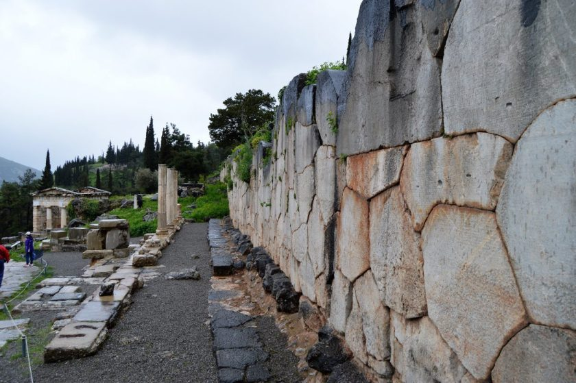 Stoa of the Athenians at Delphi, Greece