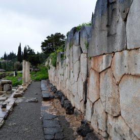 Stoa of the Athenians at Delphi, Greece