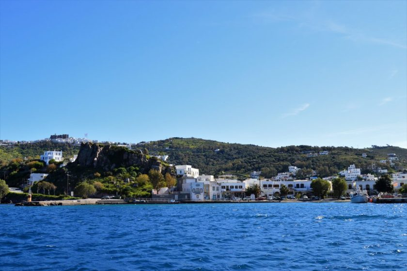 Island of Patmos as seen from the sea