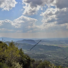 Panoramic view of the Meteora Valley in Meeora, Greece