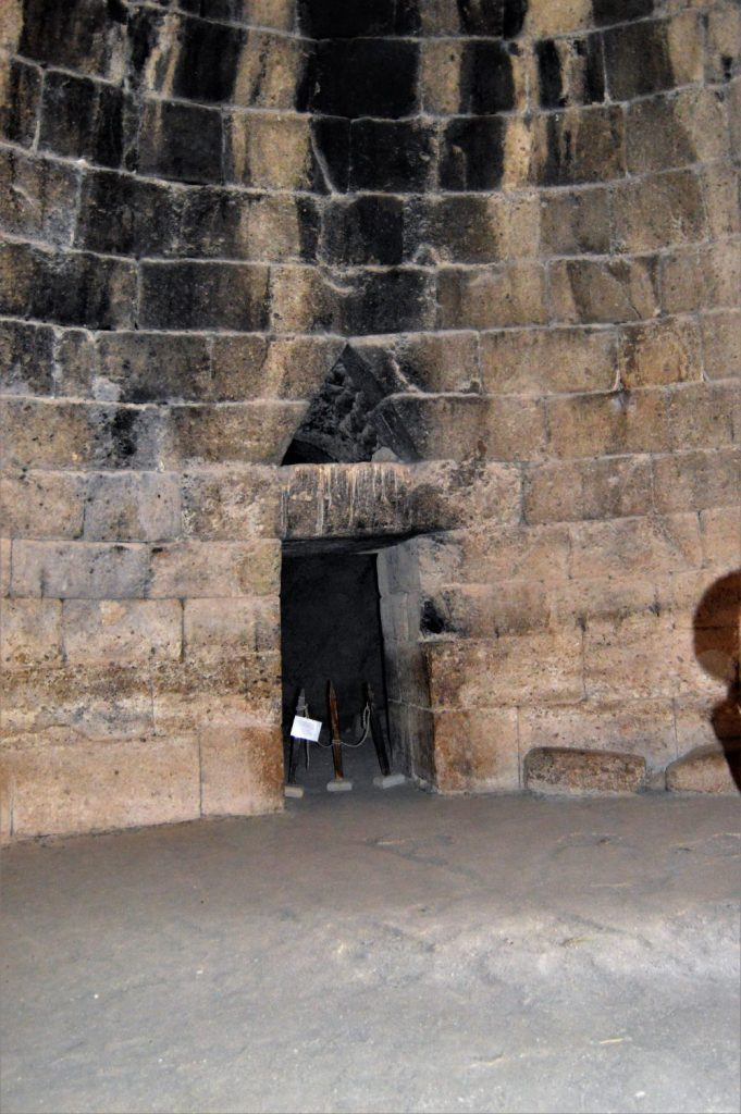 Interior of Tomb of Agamemnon located near the Mycenae citadel in Peloponnese, Greece