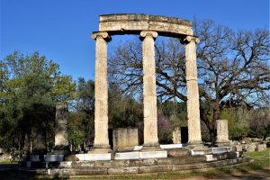 Philippeion - a monument built by the father of Alexander the Great at the sanctuary of Olympia, Greece