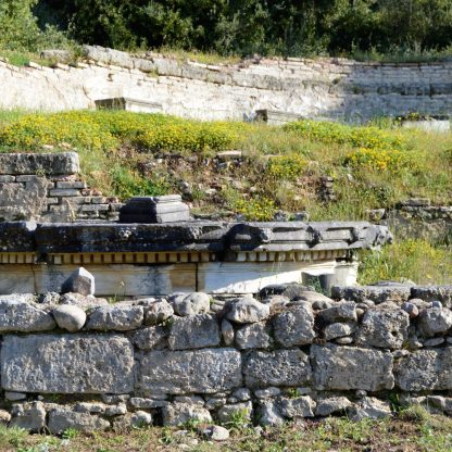 Ruins of Nymphaion (Nymphaeum) in Olympia, Greece