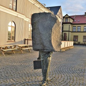 Sculpture of an unknown bureaucrat in Reykjavik, Iceland