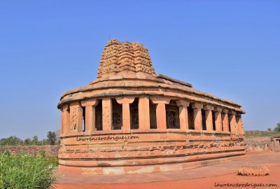 Rear view of the Durga Temple in Aihole, Karnataka, India