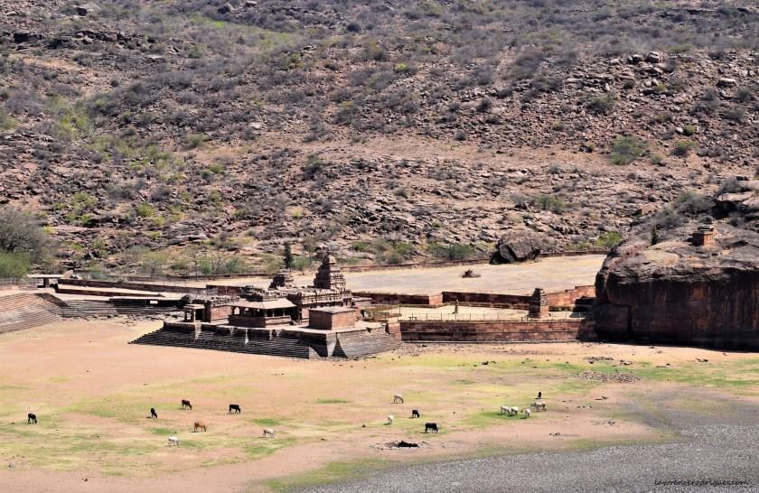 Bhuthanatha Temple on the eastern shore of the Agastya Lake on Badami, Karnataka
