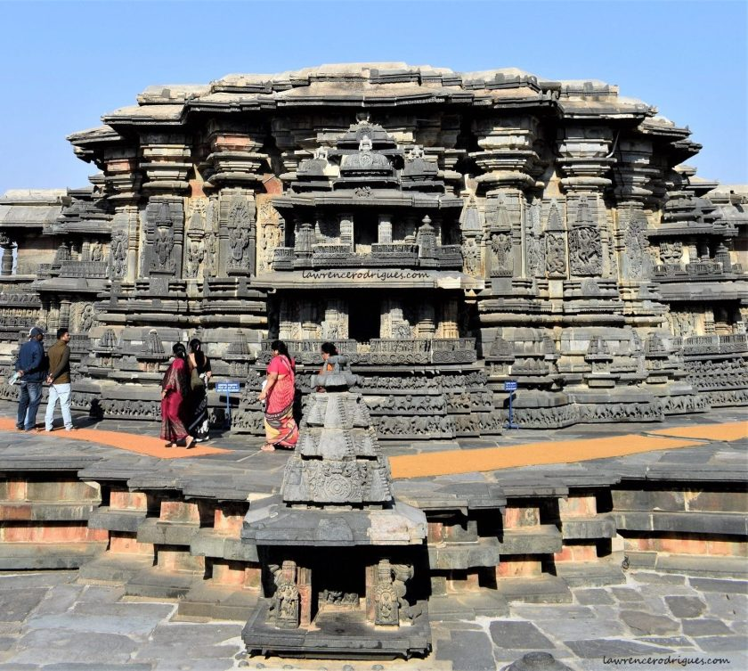 A view from the west side of the Belur Chennakeshava Temple in Karnataka, India
