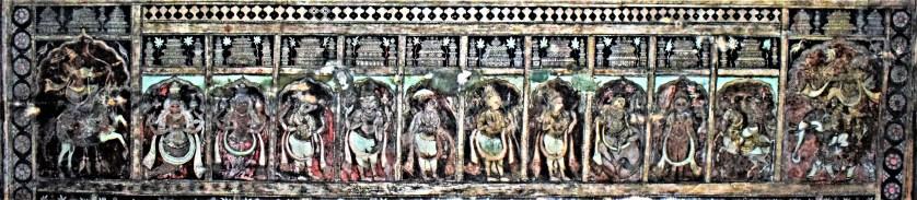 Dashāvatāra (Ten Incarnations of Vishnu) painted on the ceiling of the Virupaksha Temple in Hampi, Karnataka, India