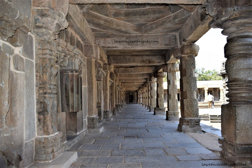 Gallery on the west side of the Somanathapura Keshava Temple in Karnataka, India