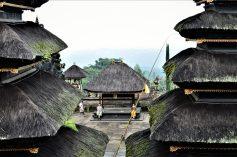 Courtyard of a temple in Besakih in Bali, Indonesia