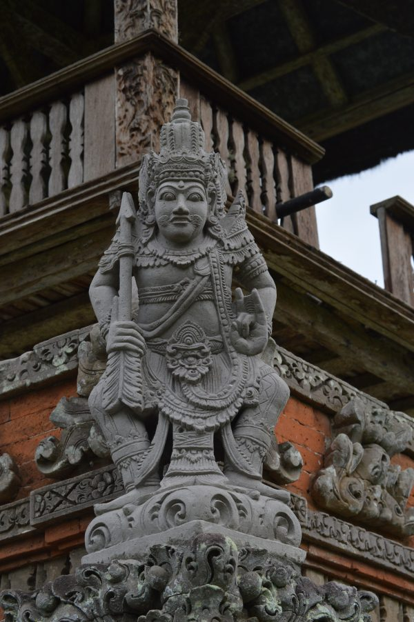Vishnu sculpture in Taman Ayun Temple in Bali, Indonesia