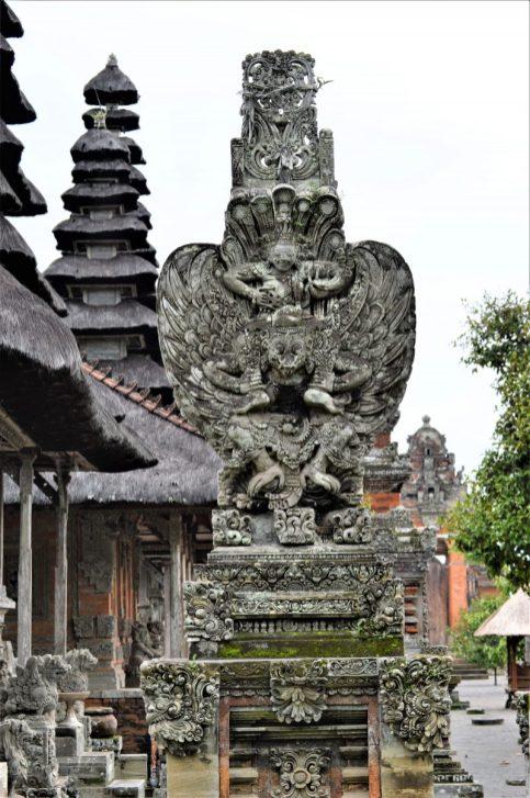 Garuda Carrying Vishnu - A sculpture standing in the Taman Ayun Temple complex located in Bali, Indonesia