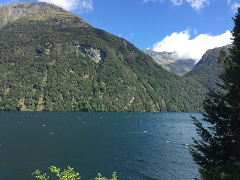 Lake Gunn as seen from the Te Anau - Milford Sound Highway
