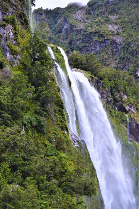 Stirling Falls in Milford Sound, New Zealand