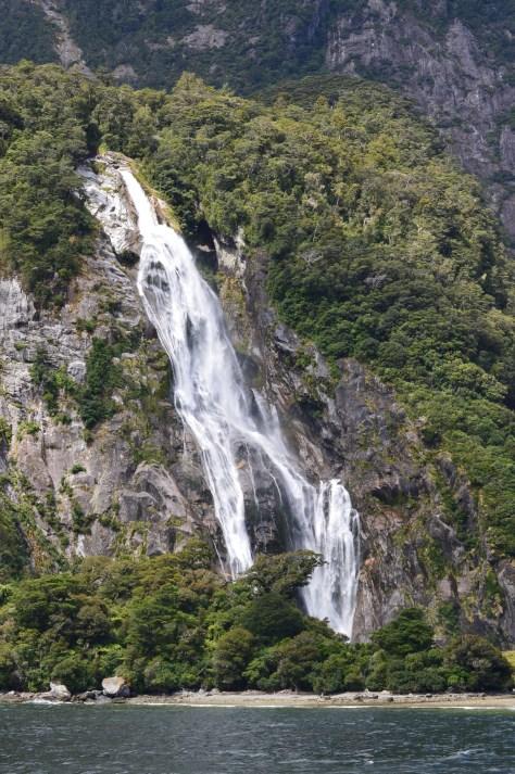 Bowen Falls in Milford Sound, South Island, New Zealand