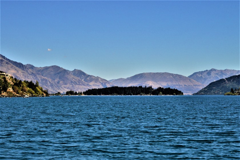 A view from the Frankton Arm of Lake Wakatipu in the South Island of New Zealand