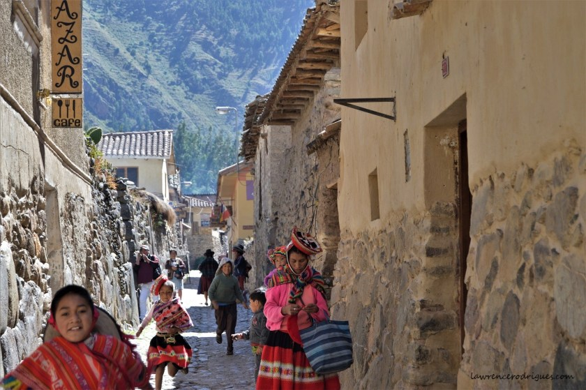 A Street in an Inca village near Ollantaytambo in the Cuzco region of Peru