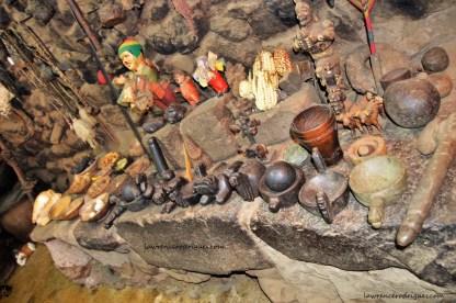 Objects inside an Inca house located in an Inca village in Ollantaytambo in the Cusco region of Peru
