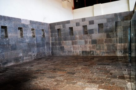 Ruins of the Qorikancha Temple in Cuzco, Peru