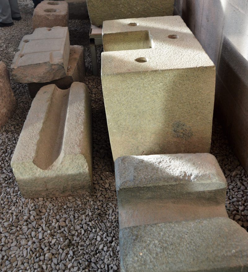 Internal locking mechanisms on stones found at the Qorikancha Temple complex, Peru