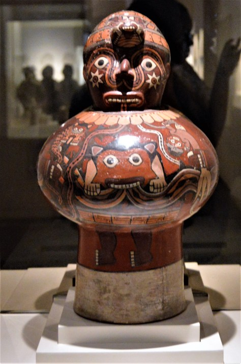 Nazca drum on display at Museo Larco