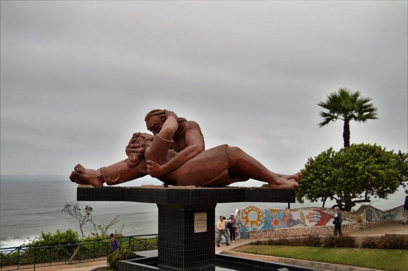 El Beso (The Kiss) in El Parque del Amor (Lover's Park), Lima, Peru
