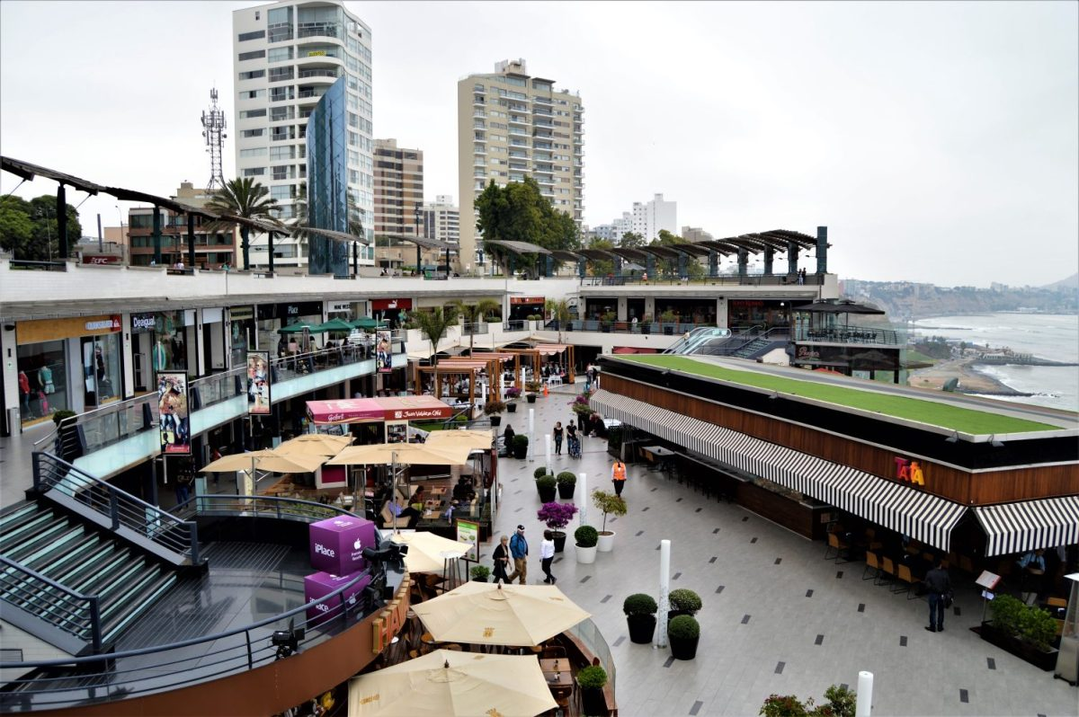 Larcomar Shopping Center in Lima, Peru