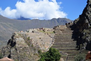 Inca fortress and agricultural terraces at Ollantaytambo