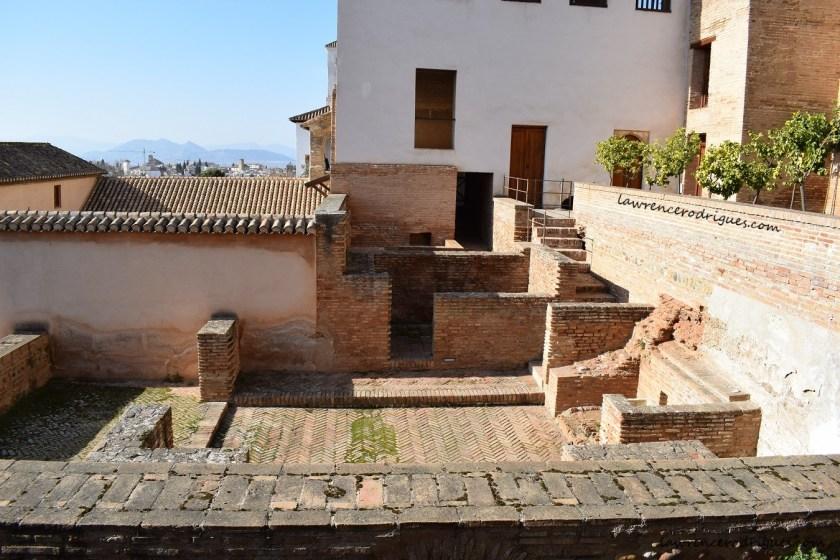 Casa de los Amigos - House of friends in the upper leve; of the Generalife in Granada, Spain