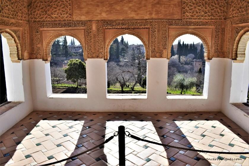 A pavilion at the Patio de la Acequia in Generalife, Granada, Spain