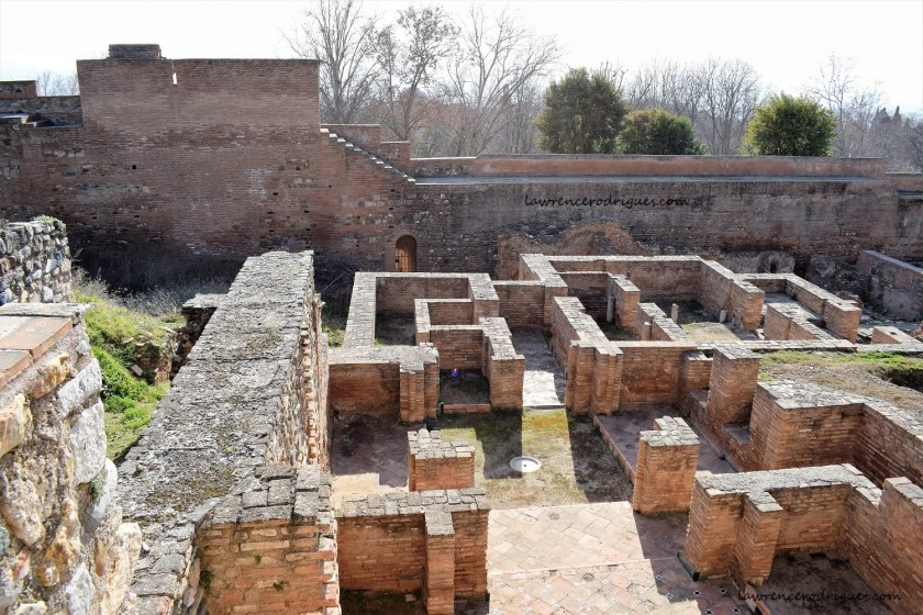 Foundations of the rooms in the Abencerrajes Palace located in the upper Alhambra, Granada, Spain