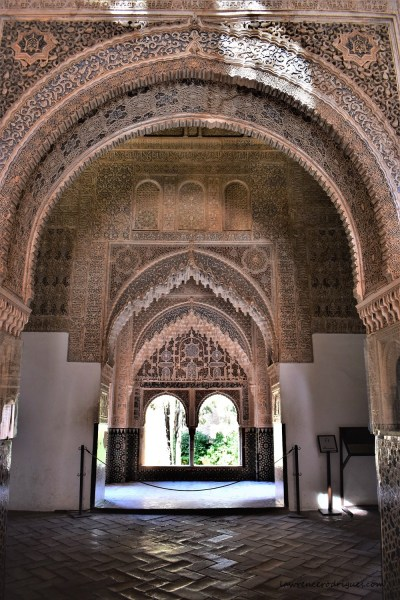 Sala de los Ajimeces and Mirador de Lindaraja - Halls located inside in Nasrid Palaces in Alhambra, Granada, Spain