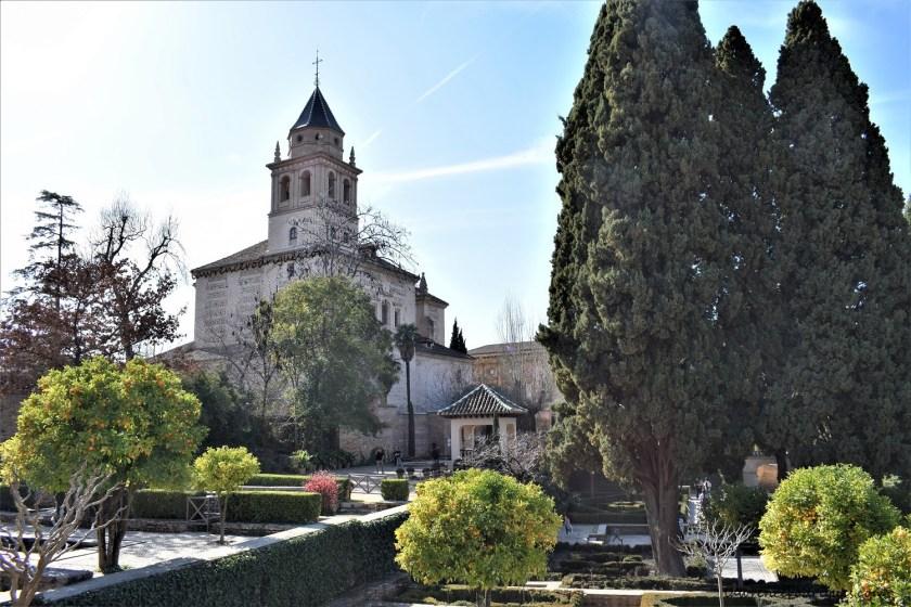 Iglesia de Santa María de la Alhambra (Church of Santa Maria of Alhambra) - A view from the Partal