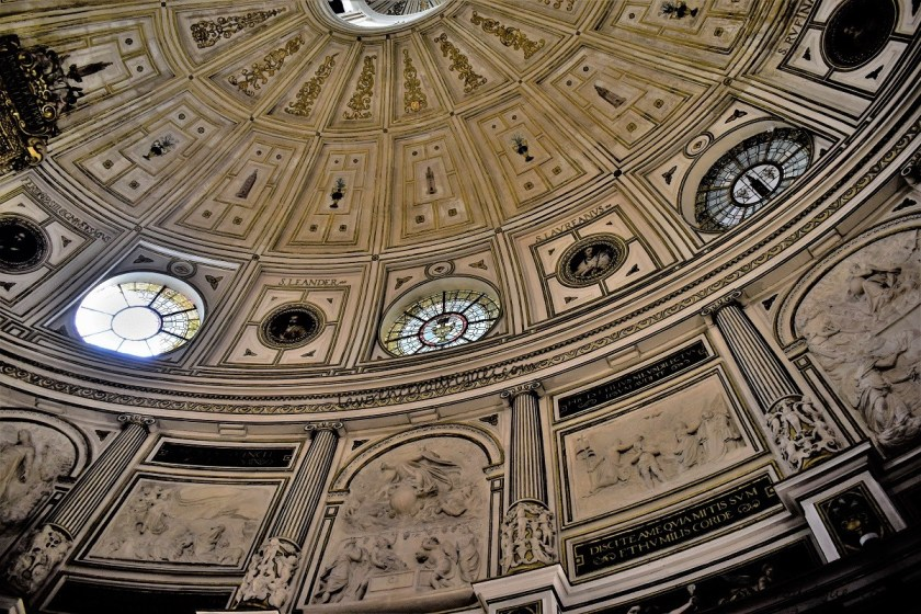 West section of the dome of the Chapter House attached to the Seville Cathedral, Andalusia, Spain