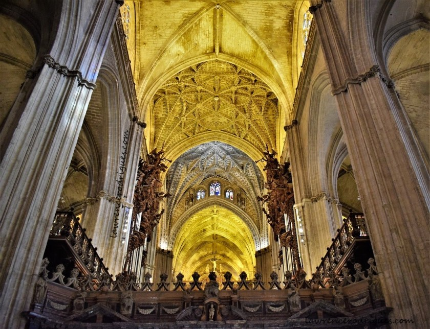 Central nave of the Seville Cathedral, Spain
