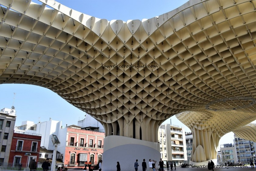 Space under the parasols of Las Setas, located on the La Encarnación square in Seville, Andalusia, Spain