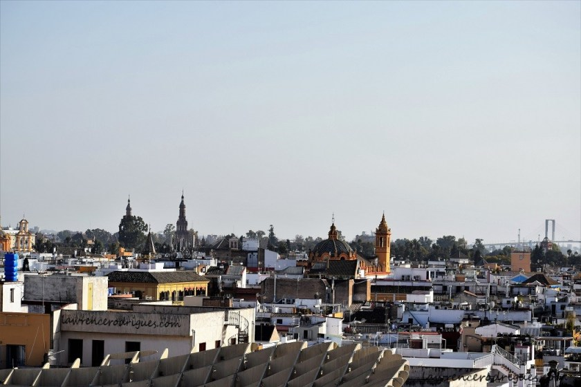 Panoramic view from Las Setas of Seville in Spain