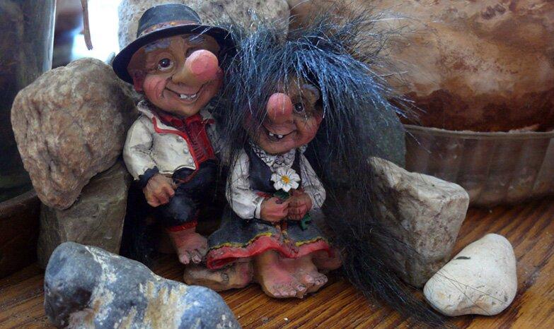 Фигурки троллей, прекрасный сувенир из Норвегии