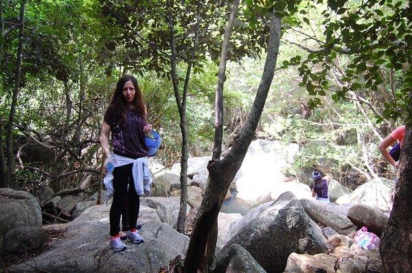 у водопада, острова, Нячанг