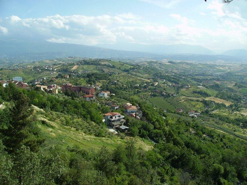 Провинция Абруццо - гористая местность