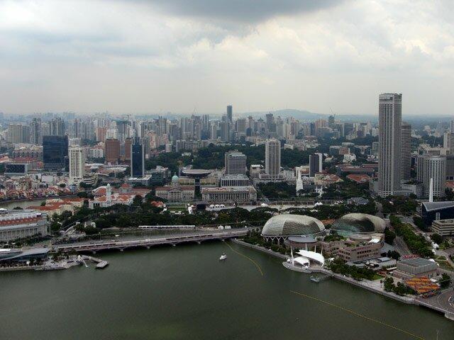 Сингапур с высоты птичьего полета