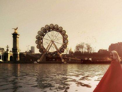В Париже откроют отель в колесе обозрения