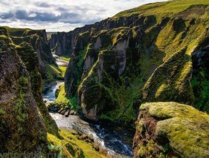 Каньон Фьядрарглйуфур, Исландия